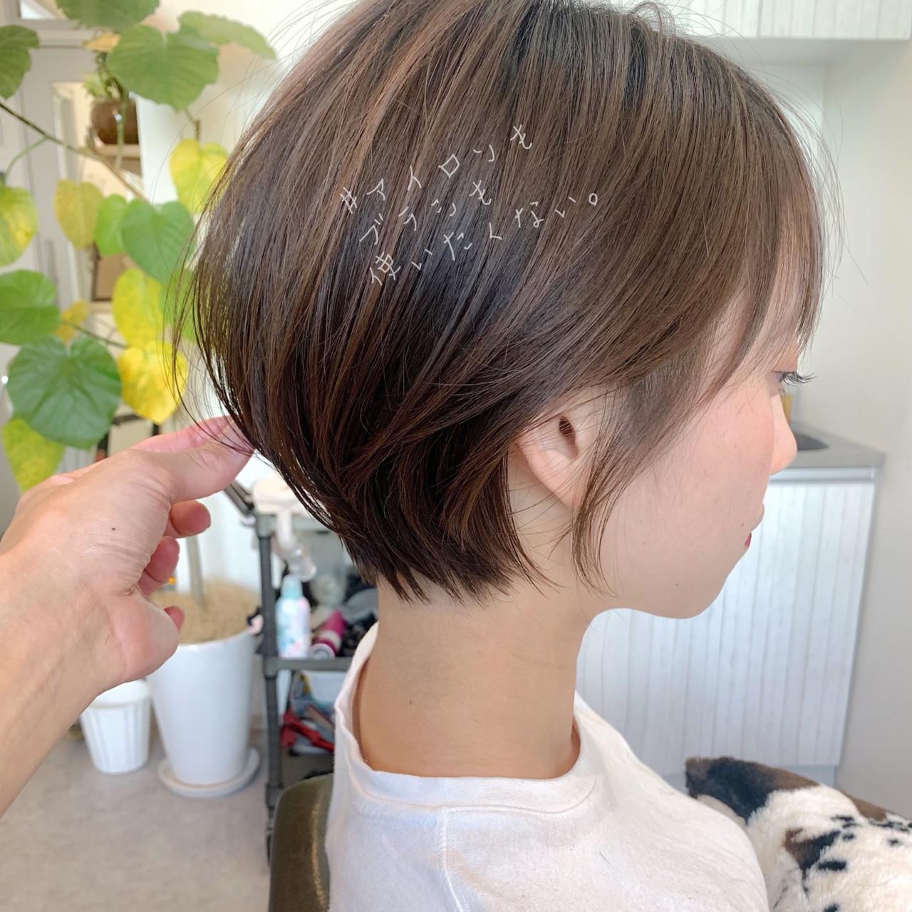 簡単ヘアアレンジ オフィス ショート アウトドア ヘアスタイルや髪型の写真・画像 | ショートボブの匠【 山内大成 】『i.hair』 / 『 i. 』 omotesando