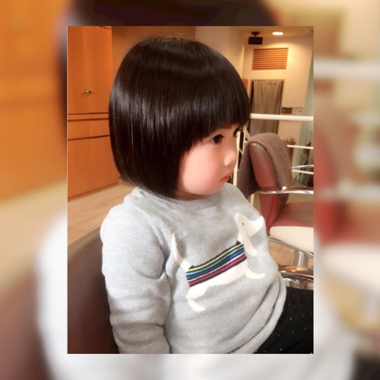 黒髪 ショートボブ ショート 子供 ヘアスタイルや髪型の写真・画像 | 原野 豊 / ARTICAL HAIR