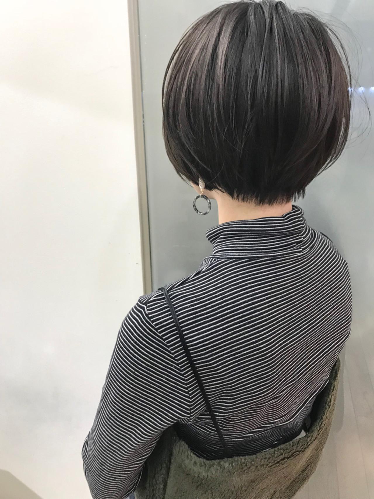 ナチュラル ショート 黒髪 スポーツ ヘアスタイルや髪型の写真・画像