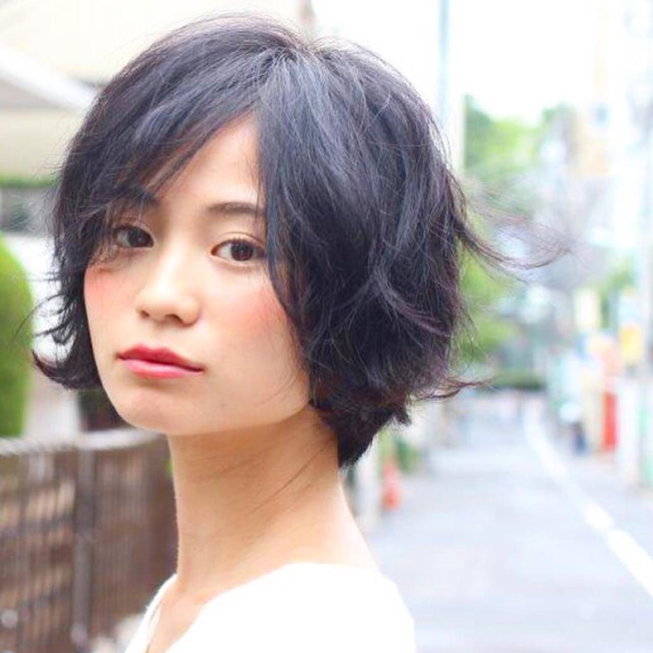 ジェンダーレス ストリート ショートボブ ショート ヘアスタイルや髪型の写真・画像 | 切りっぱなしボブを流行らせた人 Un ami増永 / Un ami omotesando