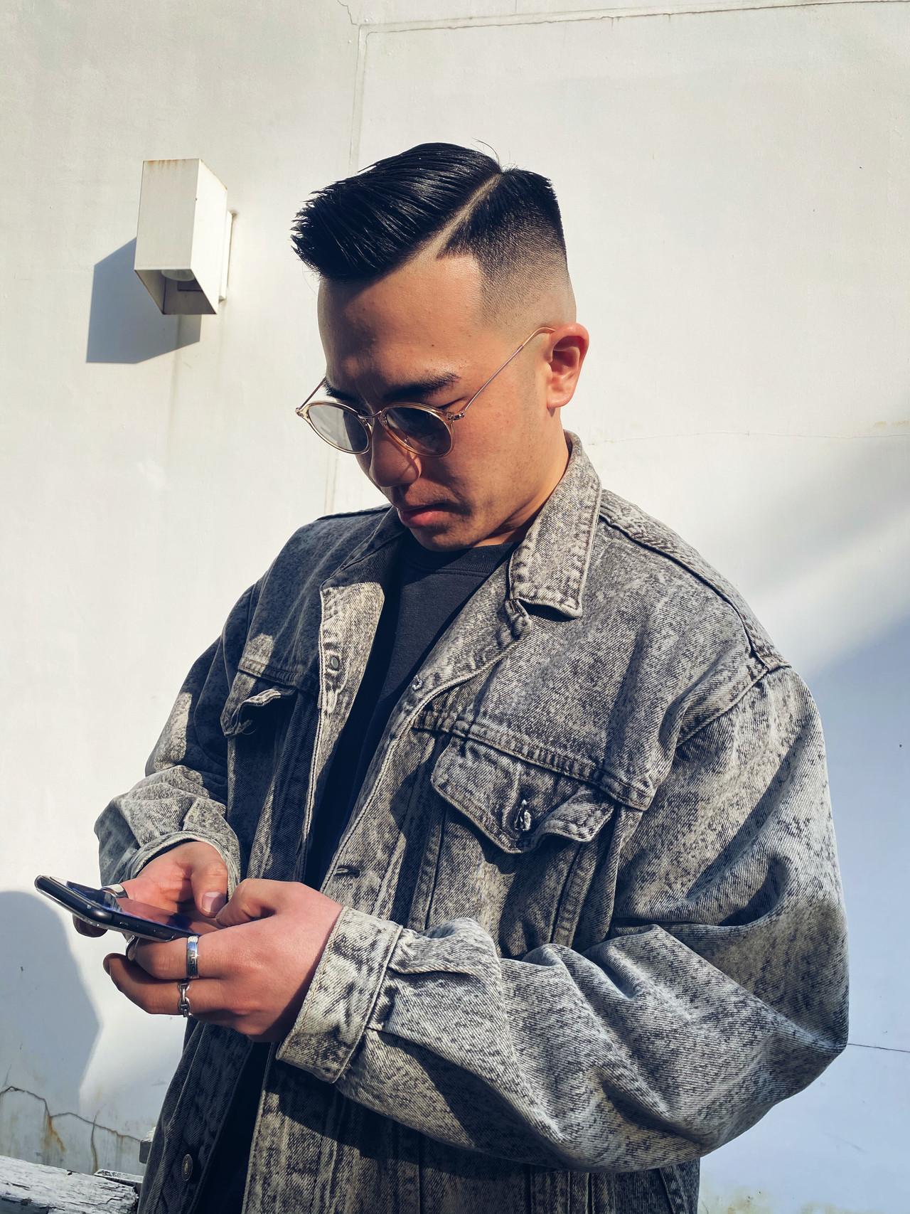 メンズヘア スキンフェード ショート ストリート ヘアスタイルや髪型の写真・画像 | メンズカット専門 NAKAMINE RYOMA / Men's grooming salon Aoyama