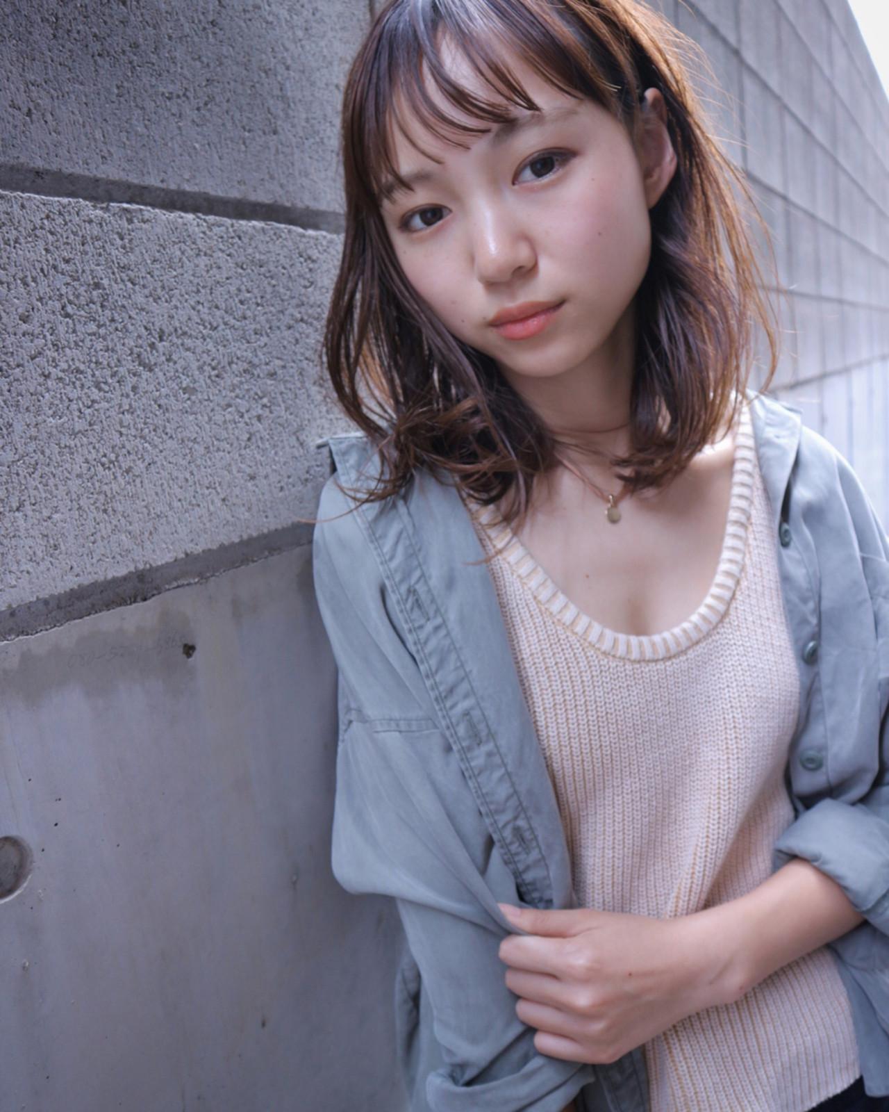 透明感 ニュアンス 小顔 ナチュラル ヘアスタイルや髪型の写真・画像 | Takashi Tetone / SHIKIO HAIR DESIGN
