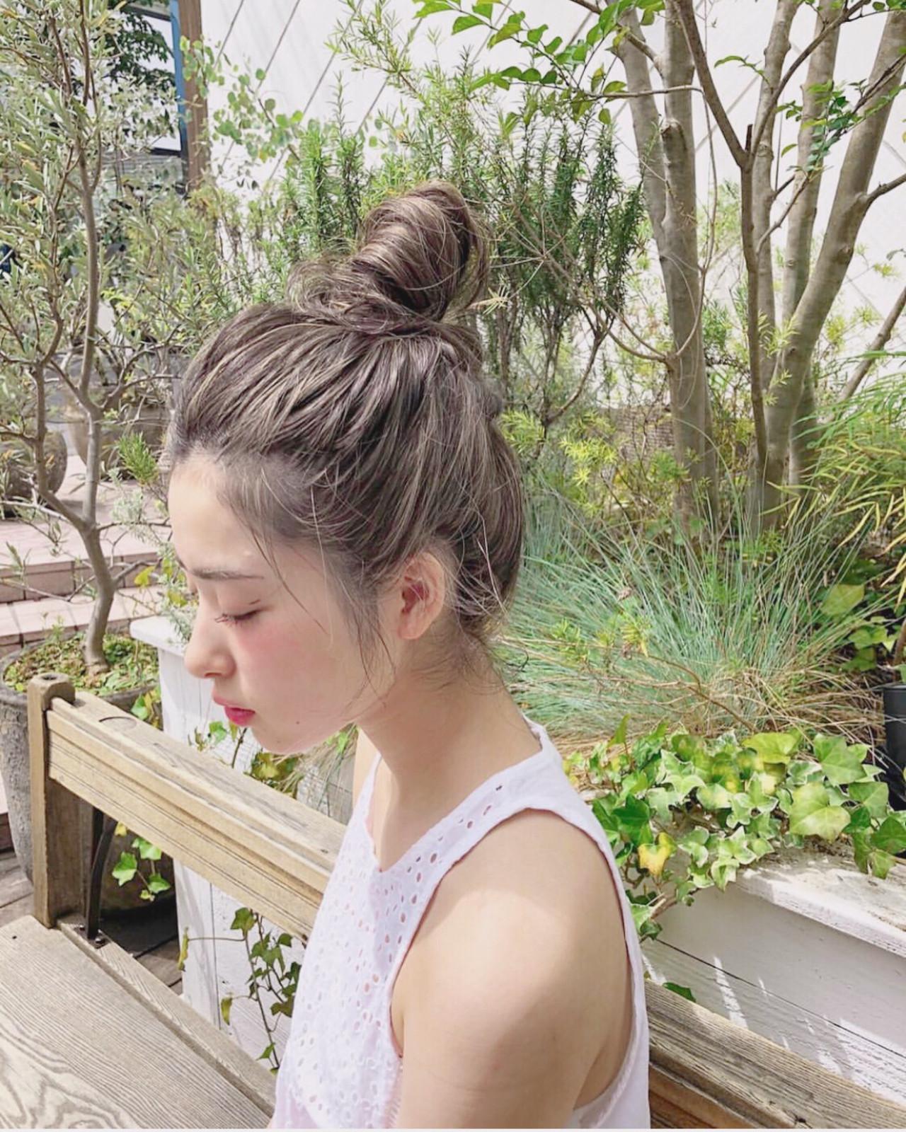 アウトドア スポーツ ロング 簡単ヘアアレンジ ヘアスタイルや髪型の写真・画像 | 宇野智祐 / Lano