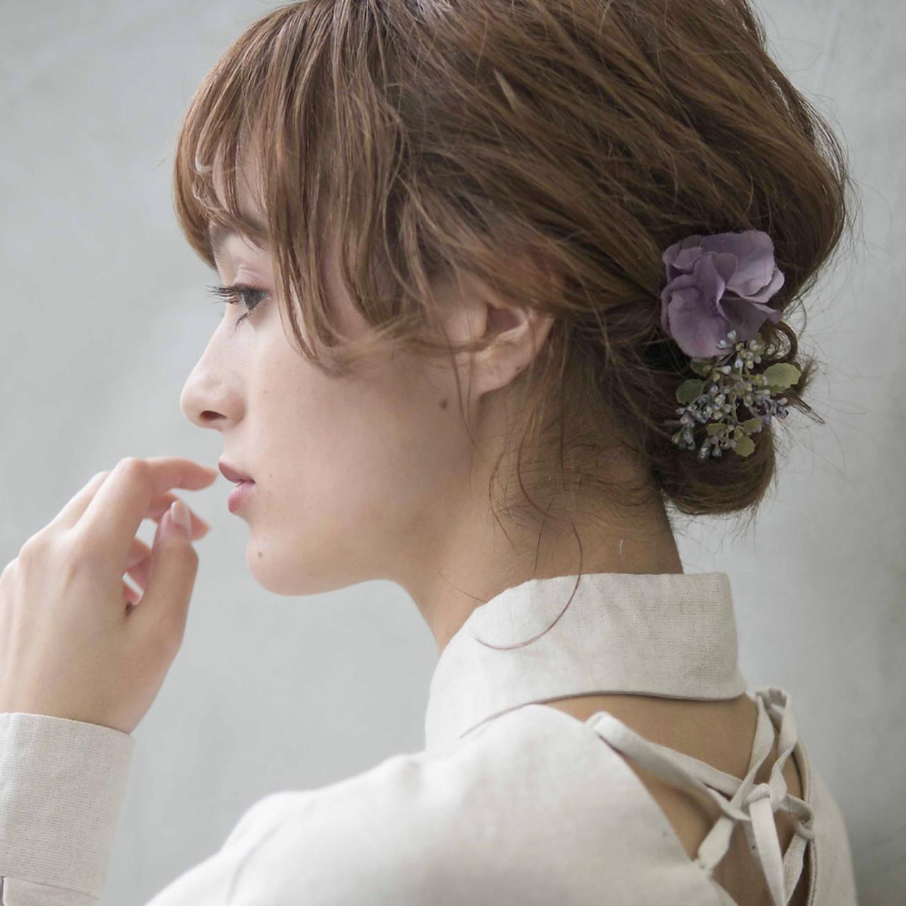 簡単ヘアアレンジ 結婚式 成人式 アンニュイほつれヘア ヘアスタイルや髪型の写真・画像 | 竹ケ鼻唯 / SUN
