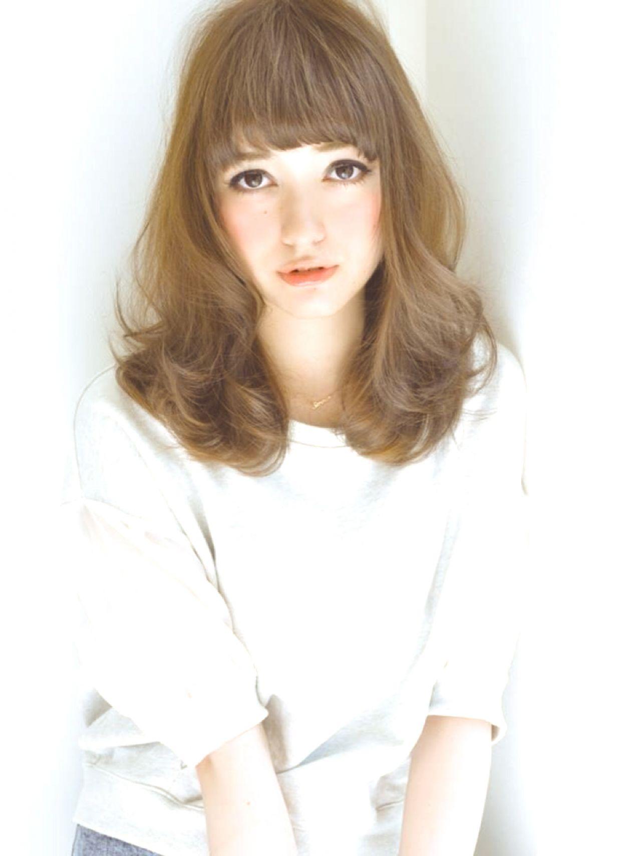 フェミニン コンサバ ゆるふわ ミディアム ヘアスタイルや髪型の写真・画像   S E R I N A /