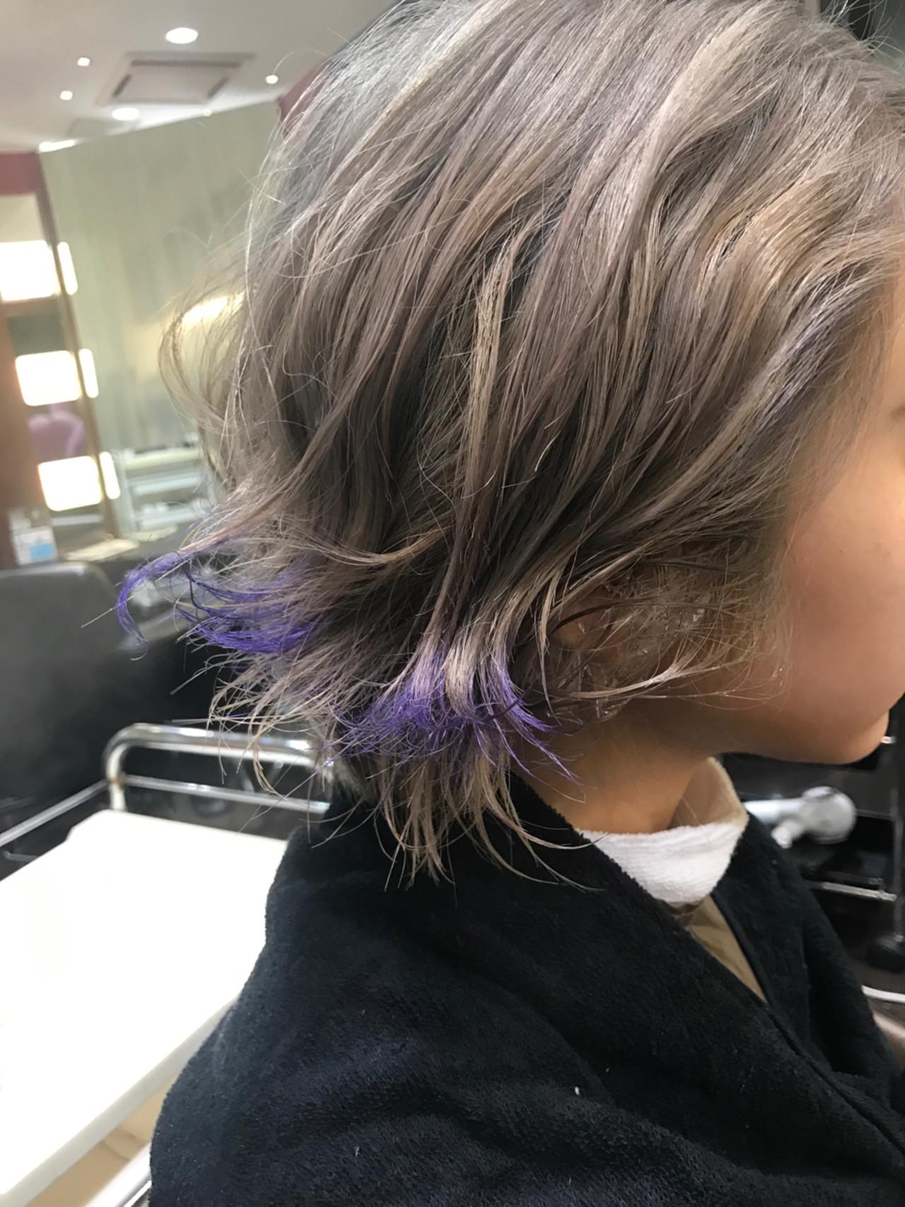 色気 冬 ショート ハイトーン ヘアスタイルや髪型の写真・画像