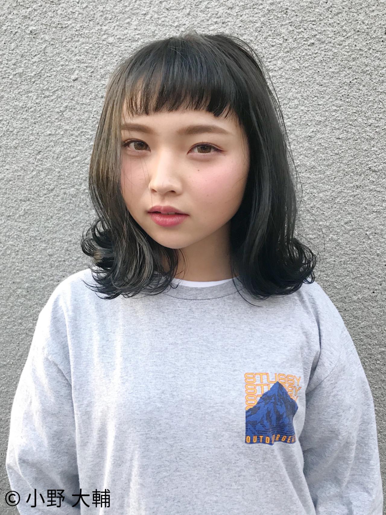 ロブ アッシュ 外国人風カラー ボブ ヘアスタイルや髪型の写真・画像