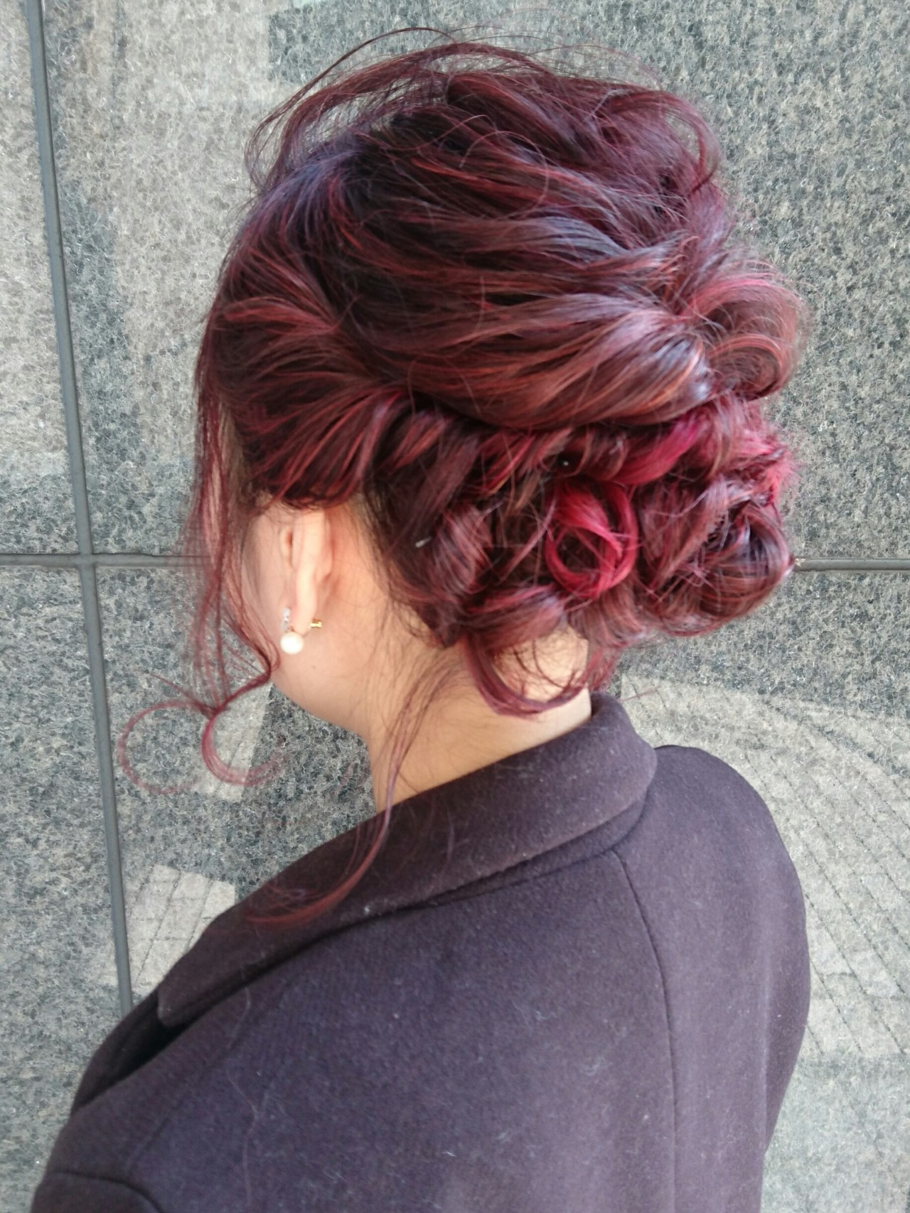 外国人風 外国人風カラー 結婚式 上品 ヘアスタイルや髪型の写真・画像