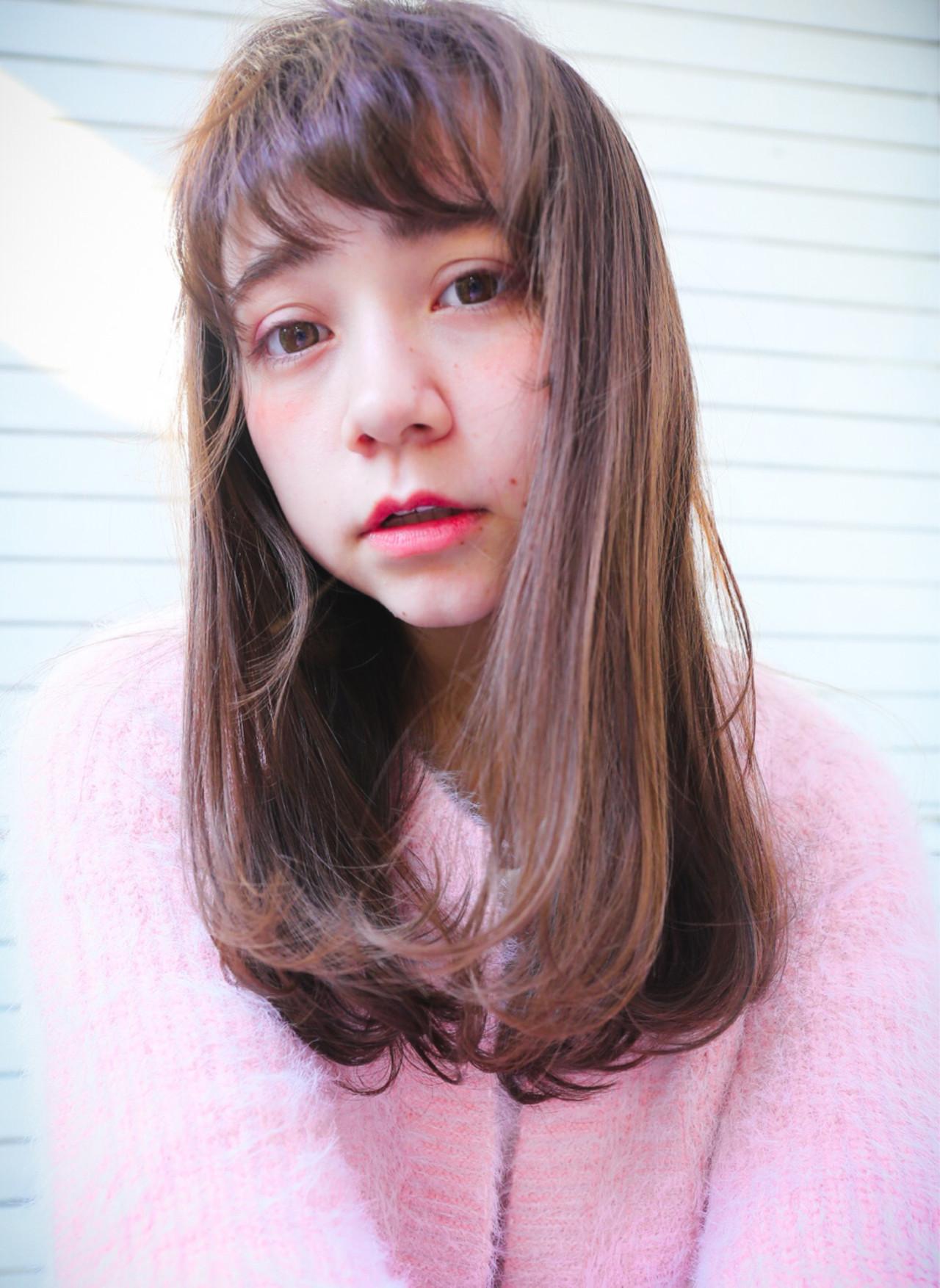 ピュア 前髪あり ガーリー モテ髪 ヘアスタイルや髪型の写真・画像