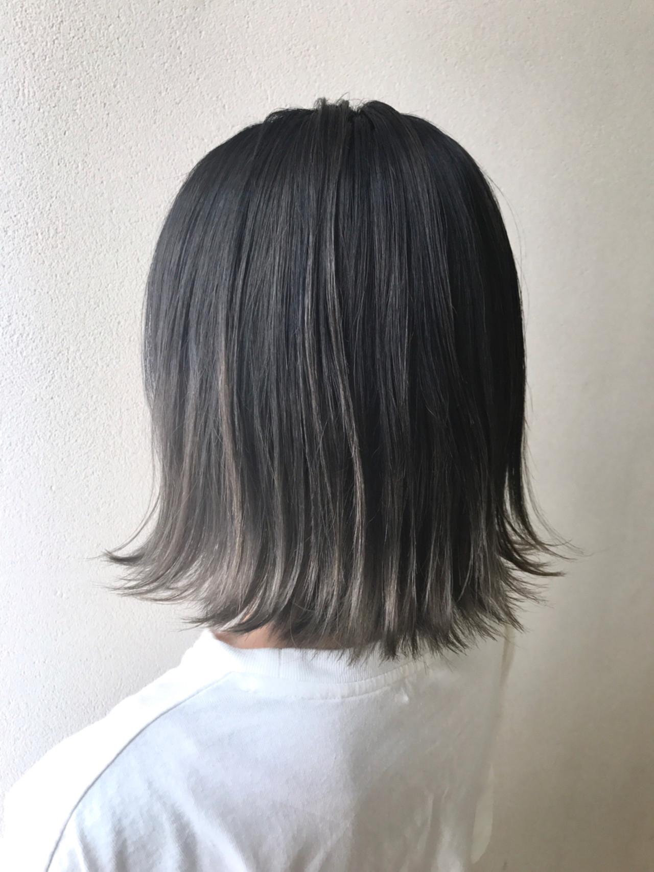 ボブ 冬 グラデーションカラー 秋 ヘアスタイルや髪型の写真・画像