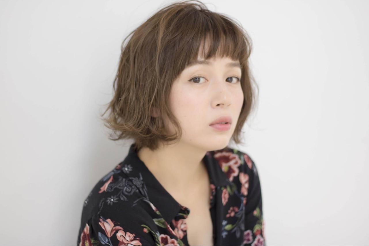 小顔 ボブ 大人女子 前髪あり ヘアスタイルや髪型の写真・画像 | 大柳 浩輝 / 美容室CINQ
