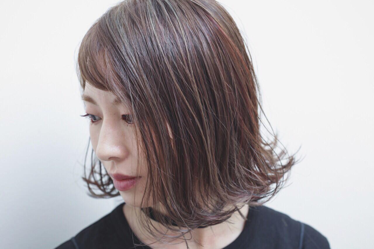 外国人風 モード アッシュ ボブ ヘアスタイルや髪型の写真・画像