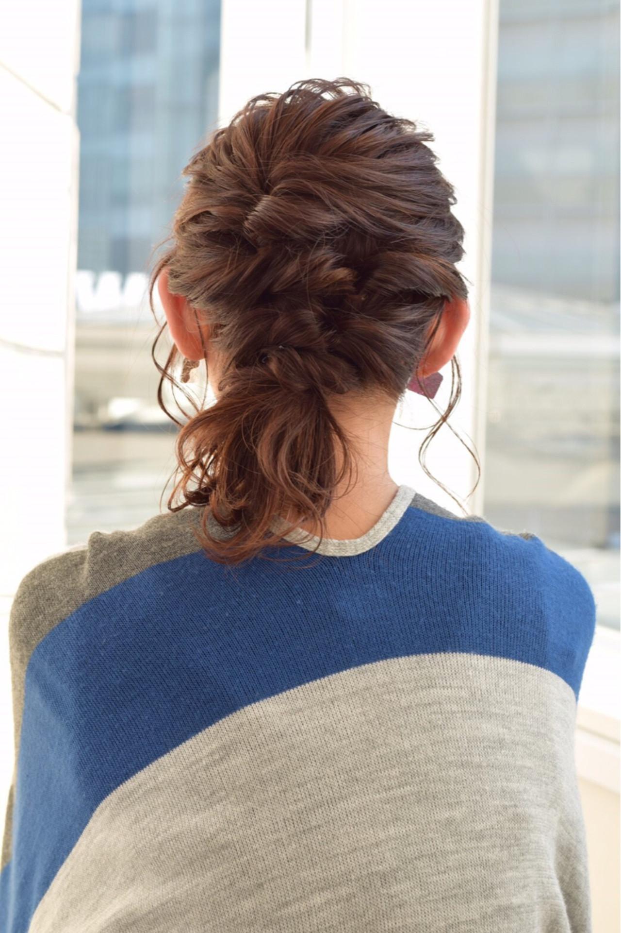 ミディアム 大人女子 小顔 ヘアアレンジ ヘアスタイルや髪型の写真・画像