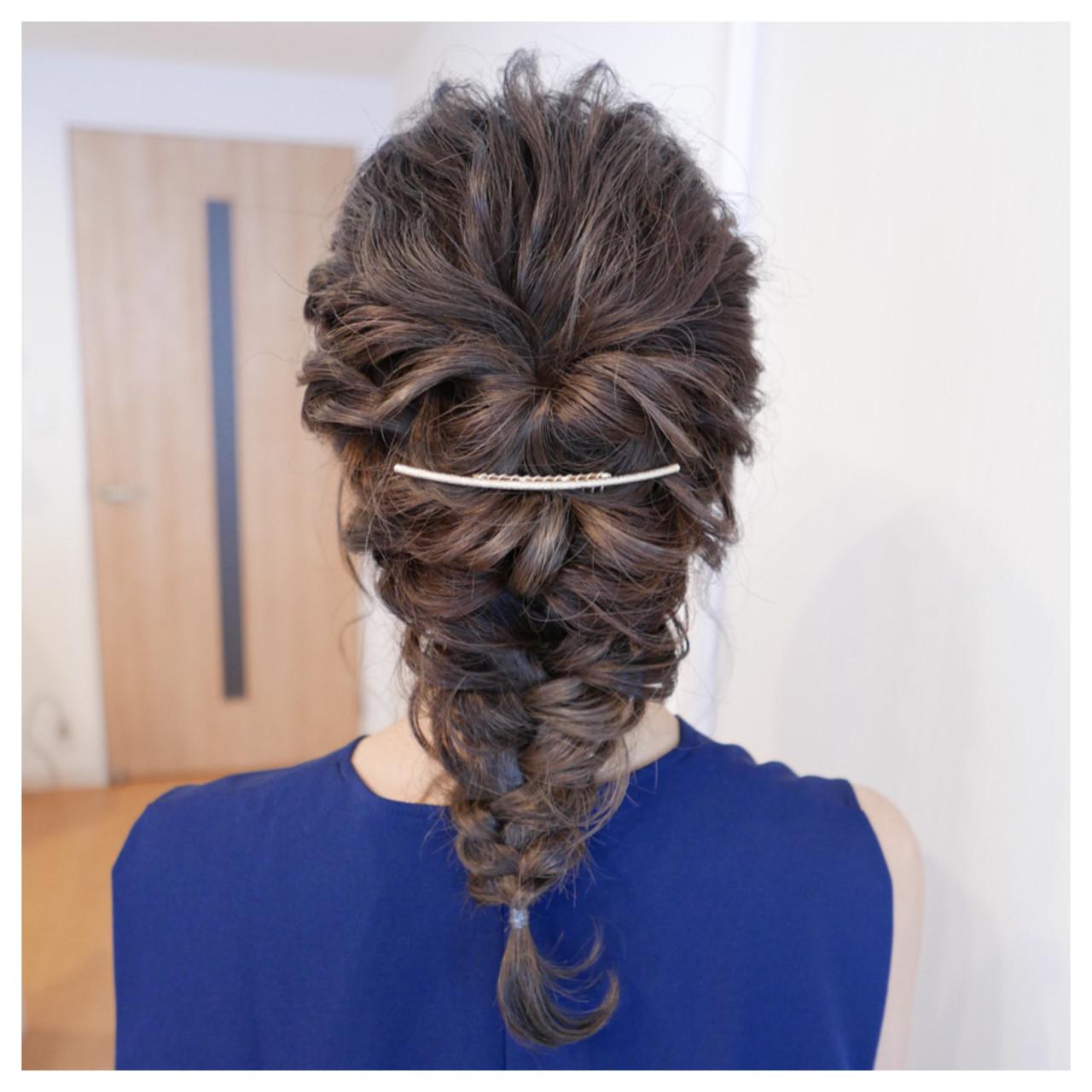 ブライダル ヘアアレンジ 編み込み ゆるふわ ヘアスタイルや髪型の写真・画像 | aoi / hair make laule'a