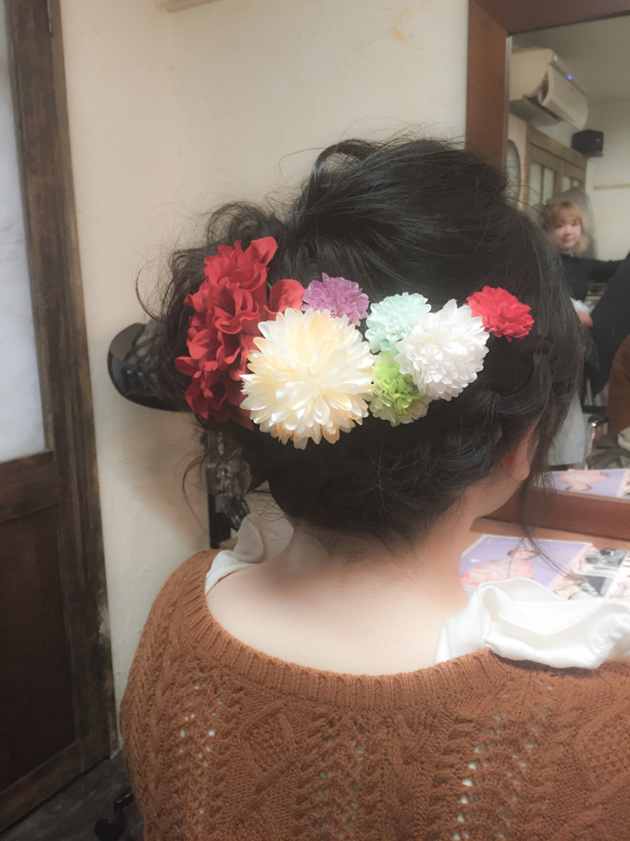 ミディアム 簡単ヘアアレンジ ゆるふわ ショート ヘアスタイルや髪型の写真・画像