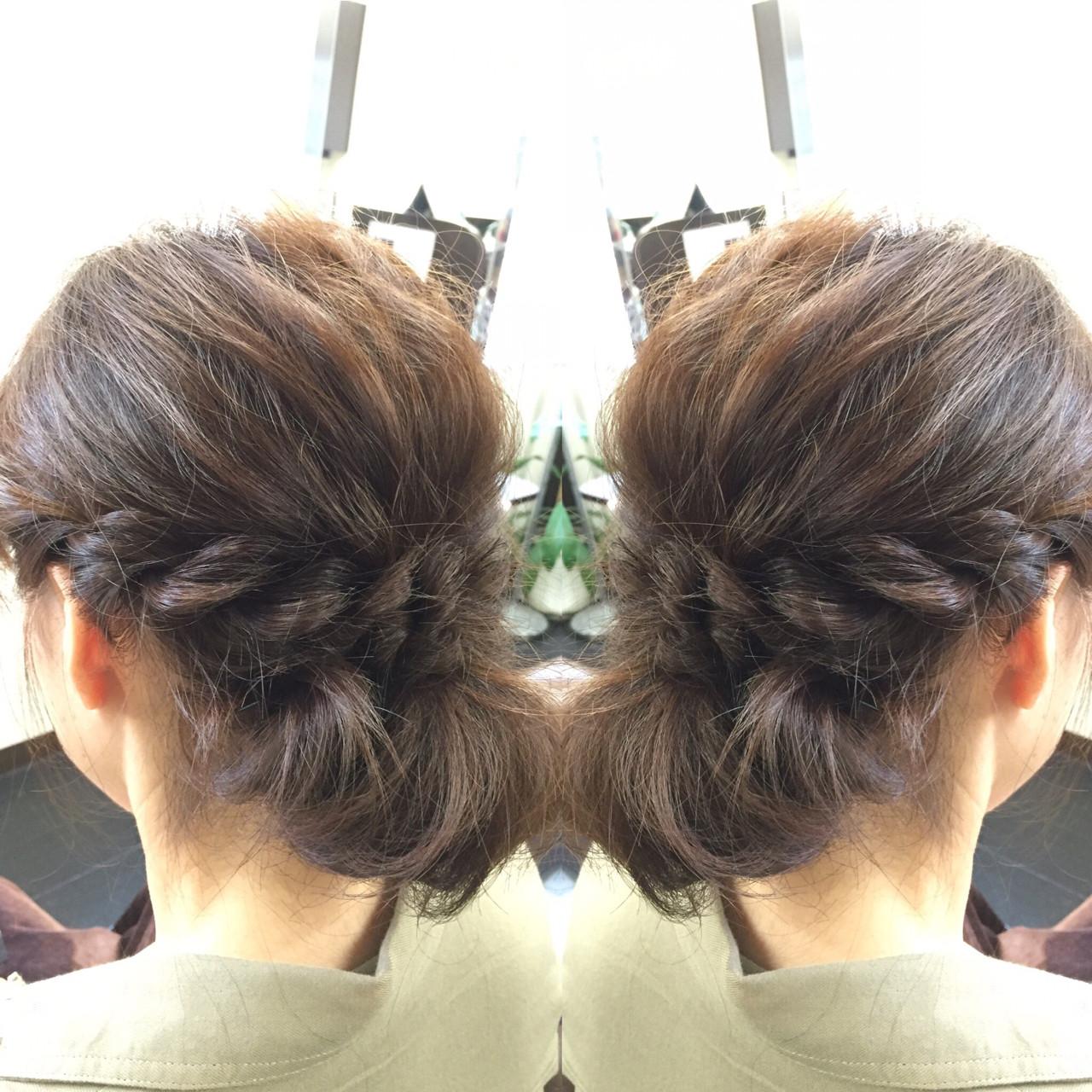 フェミニン ヘアアレンジ ショート 簡単ヘアアレンジ ヘアスタイルや髪型の写真・画像 | 佐藤 允美 / Hair Space  ACT  LOCALLY(アクトローカリー)