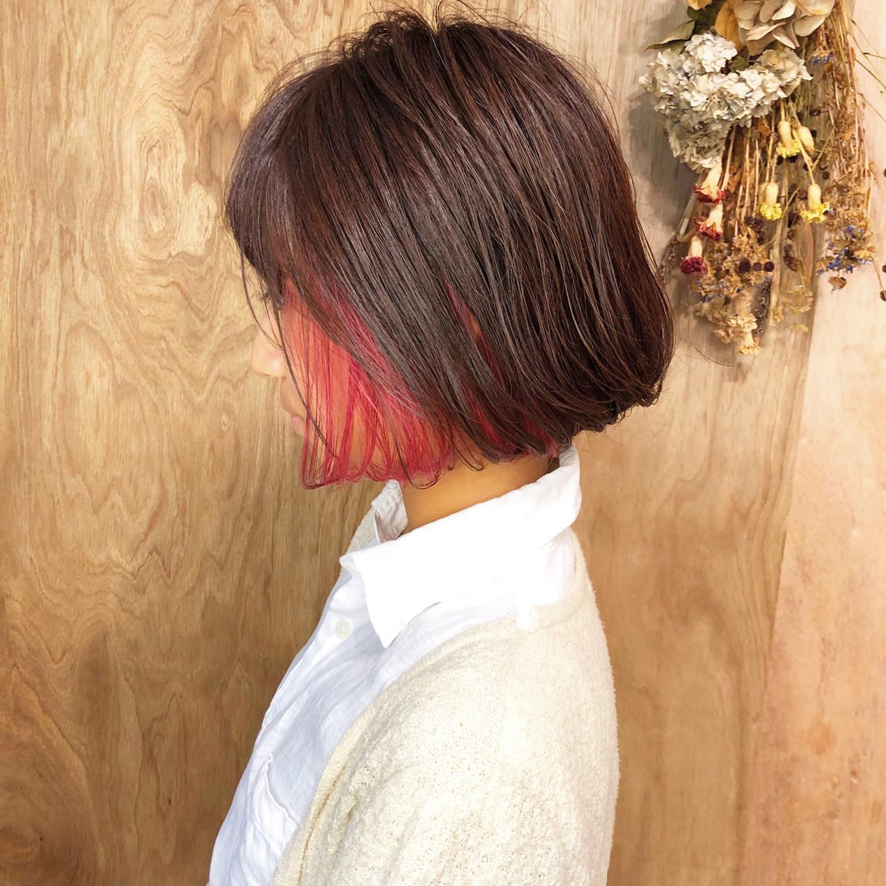 ミニボブ ボブ 外ハネボブ ハンサムショート ヘアスタイルや髪型の写真・画像