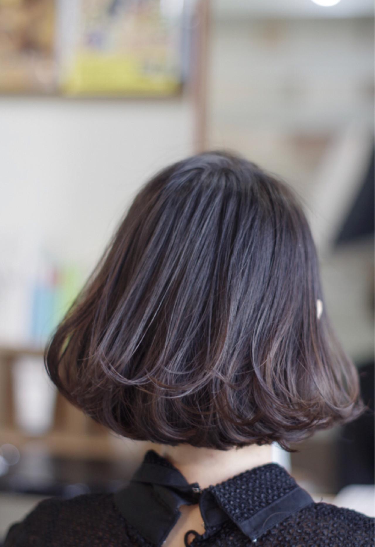 大人かわいい モテ髪 色気 ボブ ヘアスタイルや髪型の写真・画像 | ken / sora