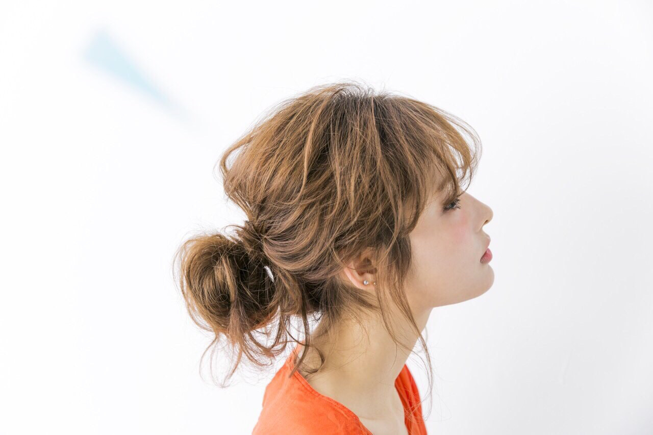 簡単ヘアアレンジ フェミニン ヘアアレンジ ショート ヘアスタイルや髪型の写真・画像