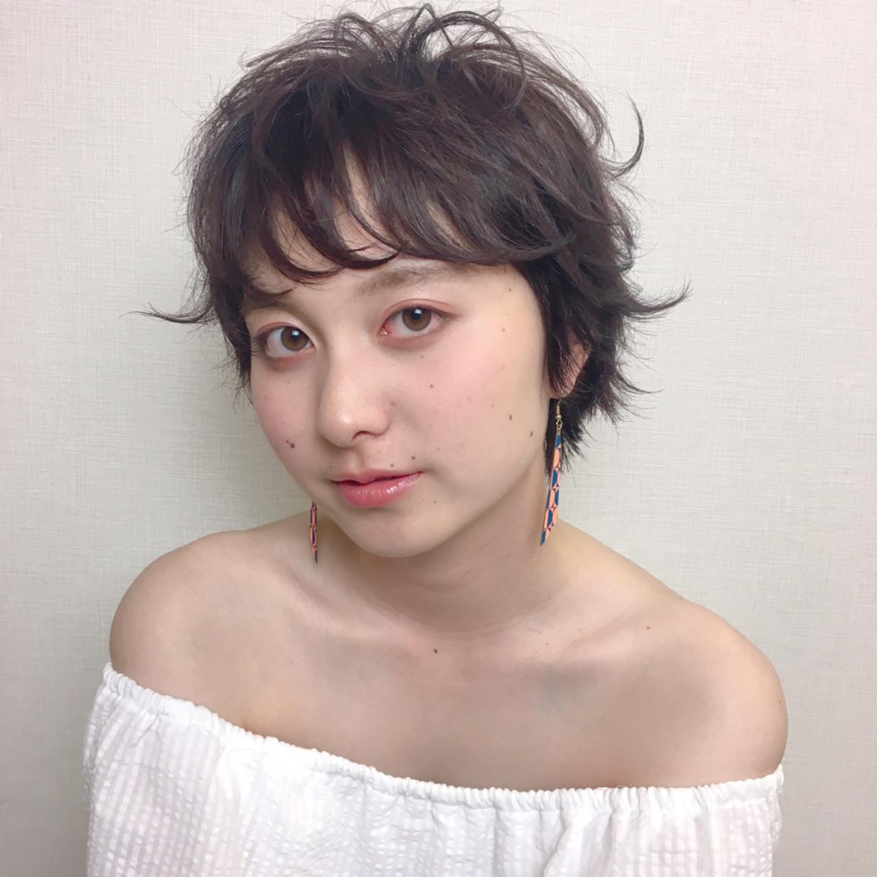マッシュ 秋 ショート 透明感 ヘアスタイルや髪型の写真・画像