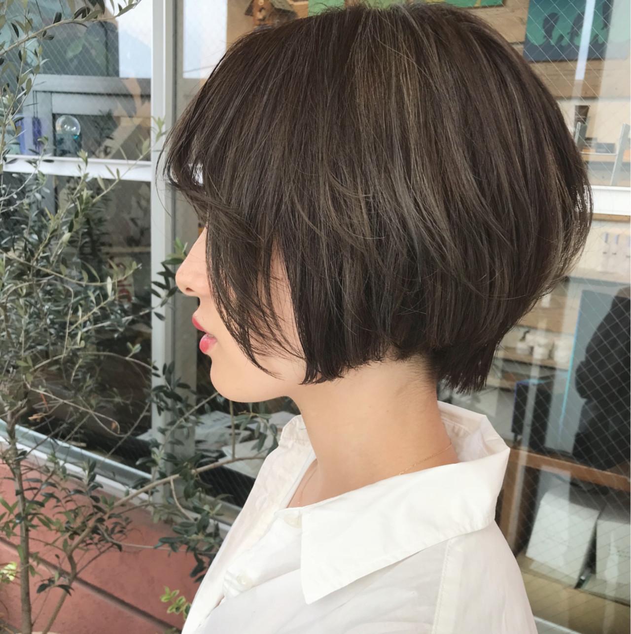 似合わせ ショートボブ 女子力 ショート ヘアスタイルや髪型の写真・画像