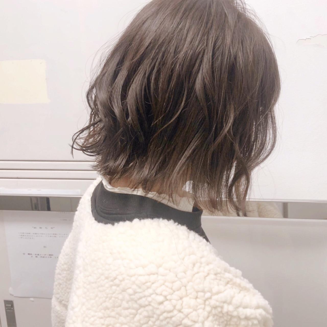 ボブ パーマ アンニュイほつれヘア ヘアアレンジ ヘアスタイルや髪型の写真・画像 | 『ボブ美容師』永田邦彦 表参道 / send by HAIR