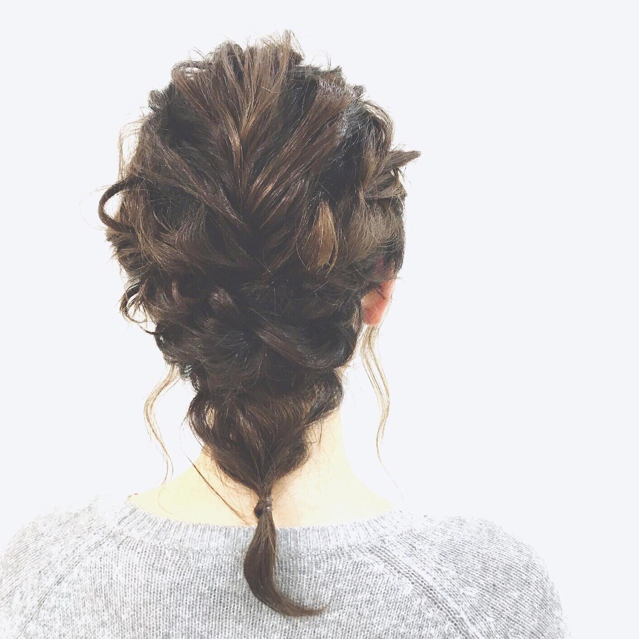 ロープ編み 大人かわいい ミディアム 三つ編み ヘアスタイルや髪型の写真・画像 | SAKURA 村上 ゆうすけ / Lifesalon SAKURA