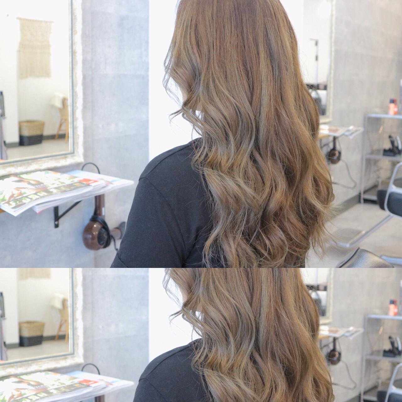 エレガント アンニュイ ネイビー ロング ヘアスタイルや髪型の写真・画像
