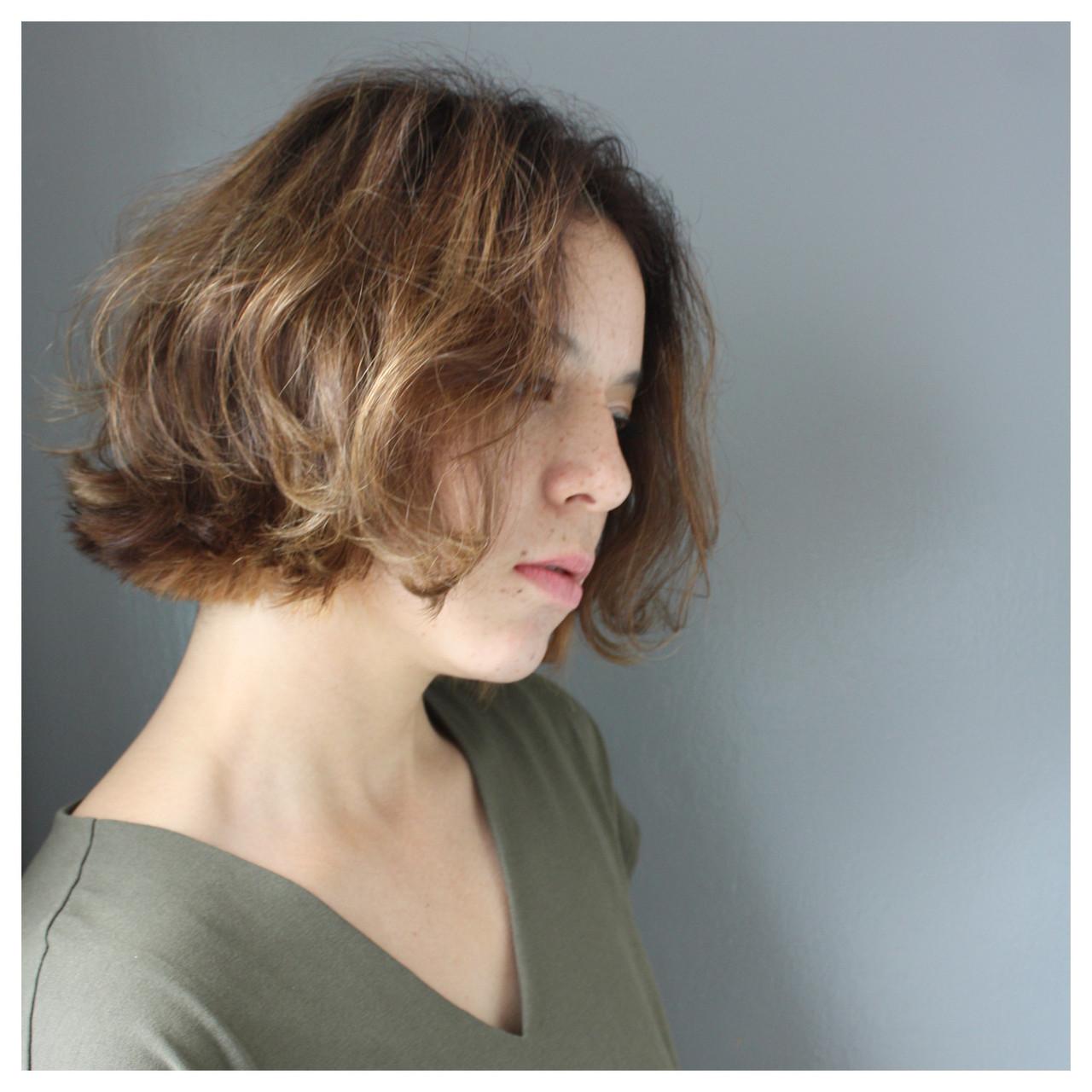 デート パーマ オフィス ナチュラル ヘアスタイルや髪型の写真・画像 | 夕島 拓朗/Penelope/director / Penelope