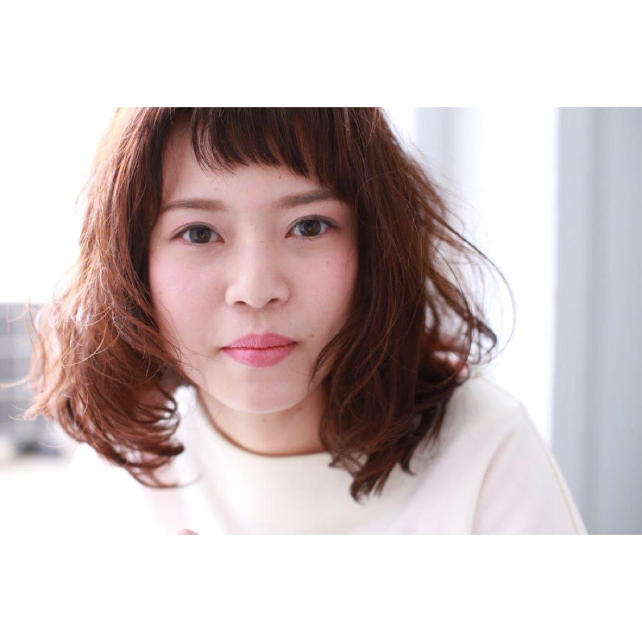パーマ 前髪あり 小顔 こなれ感 ヘアスタイルや髪型の写真・画像 | Yumi Hiramatsu / Sourire Imaizumi【スーリール イマイズミ】