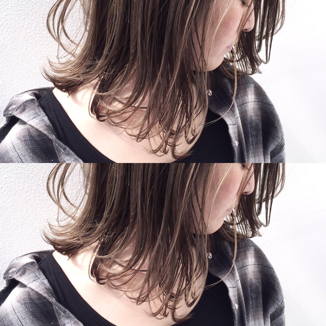 アンニュイ グレージュ ゆるふわ ナチュラル ヘアスタイルや髪型の写真・画像