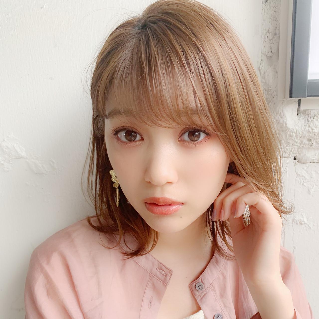 ミディアム パーティ 大人かわいい アウトドア ヘアスタイルや髪型の写真・画像 | Natsuko Kodama 児玉奈都子 / dydi