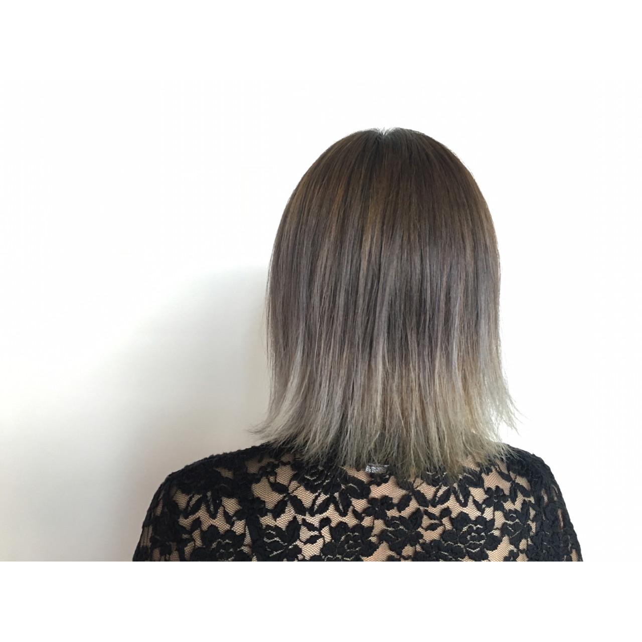 外国人風 ボブ グラデーションカラー ガーリー ヘアスタイルや髪型の写真・画像