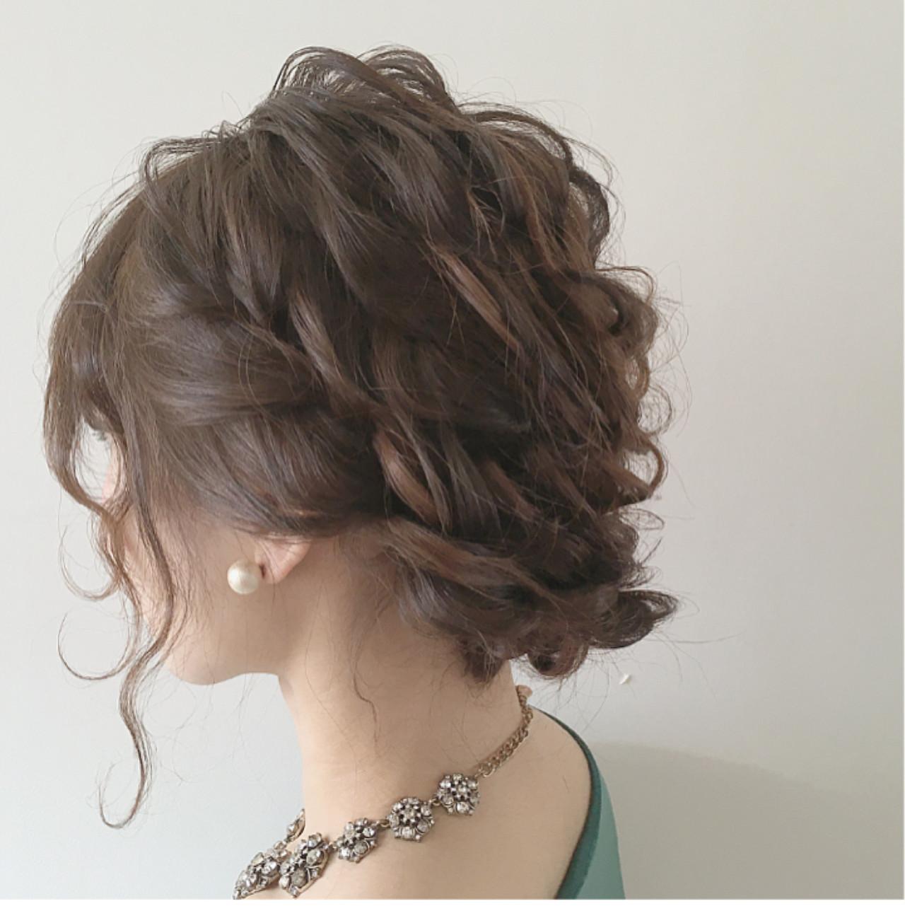 ナチュラル ミディアム ガーリー ヘアアレンジ ヘアスタイルや髪型の写真・画像