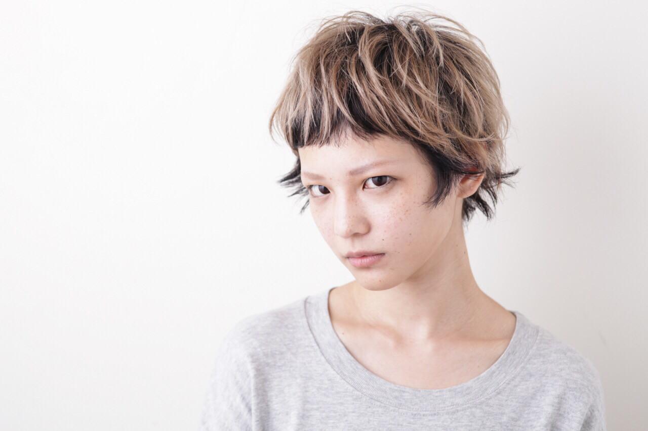 似合わせ ローライト 小顔 ショートバング ヘアスタイルや髪型の写真・画像