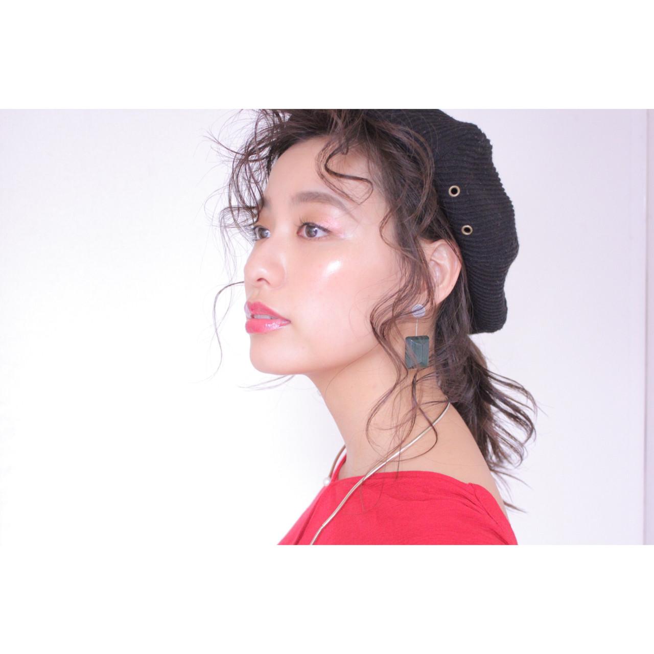 ウェットヘア ヘアアレンジ ヘアワックス ガーリー ヘアスタイルや髪型の写真・画像