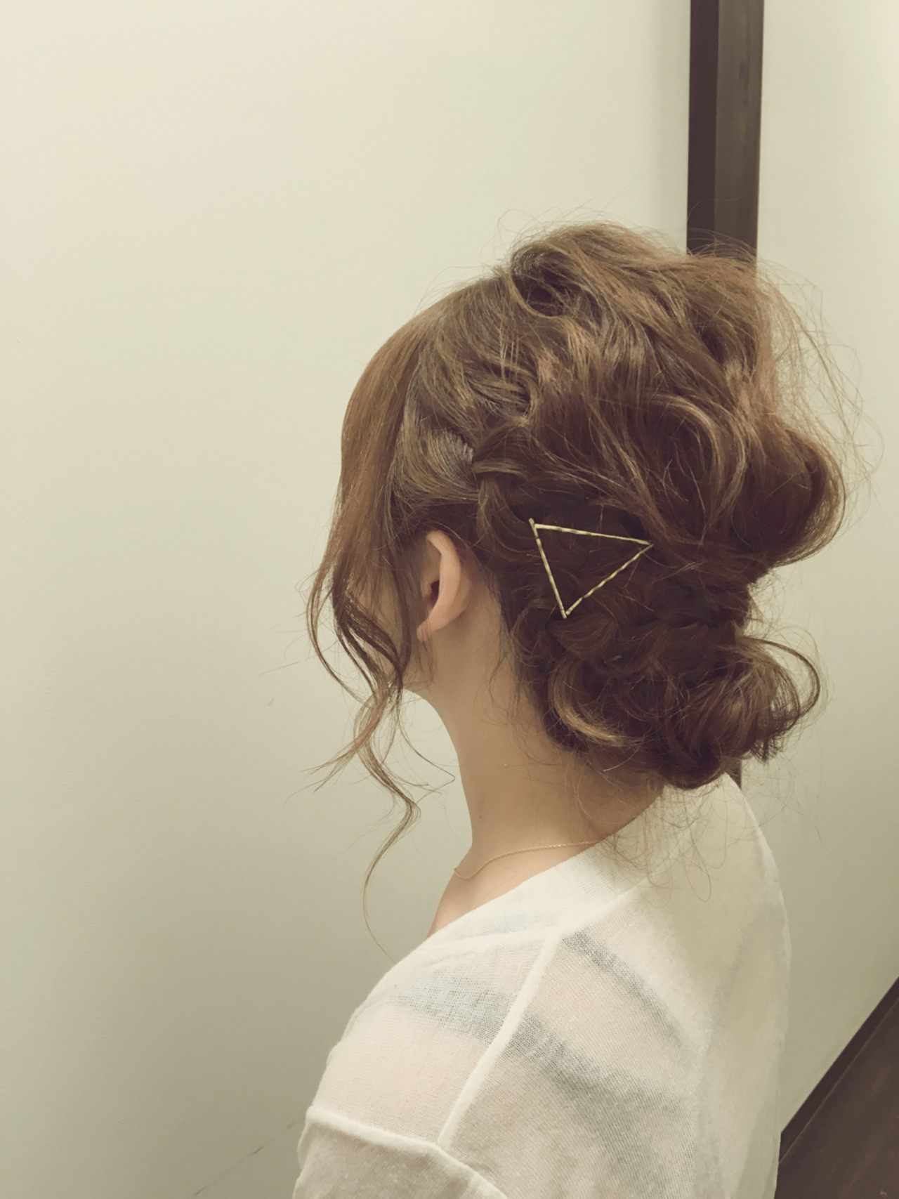 ヘアピン ヘアアレンジ くせ毛風 ヘアアクセ ヘアスタイルや髪型の写真・画像