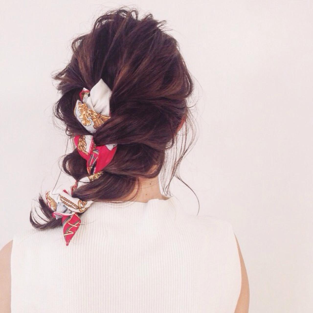 シースルーバング 大人かわいい セミロング ヘアアクセ ヘアスタイルや髪型の写真・画像