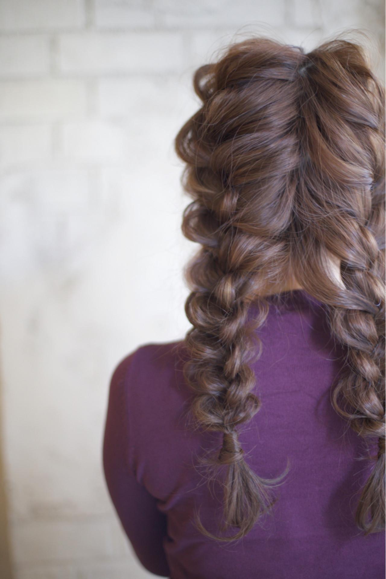 編み込み ヘアアレンジ 結婚式 ロング ヘアスタイルや髪型の写真・画像