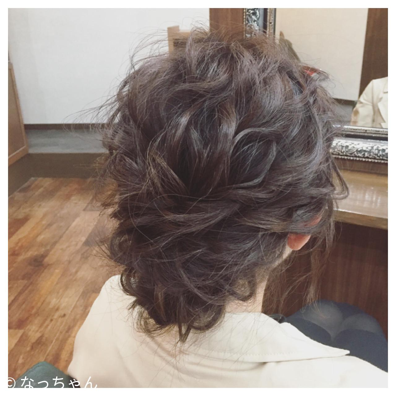 ヘアアレンジ パーティ ミディアム フェミニン ヘアスタイルや髪型の写真・画像 | なっちゃん / G-girl