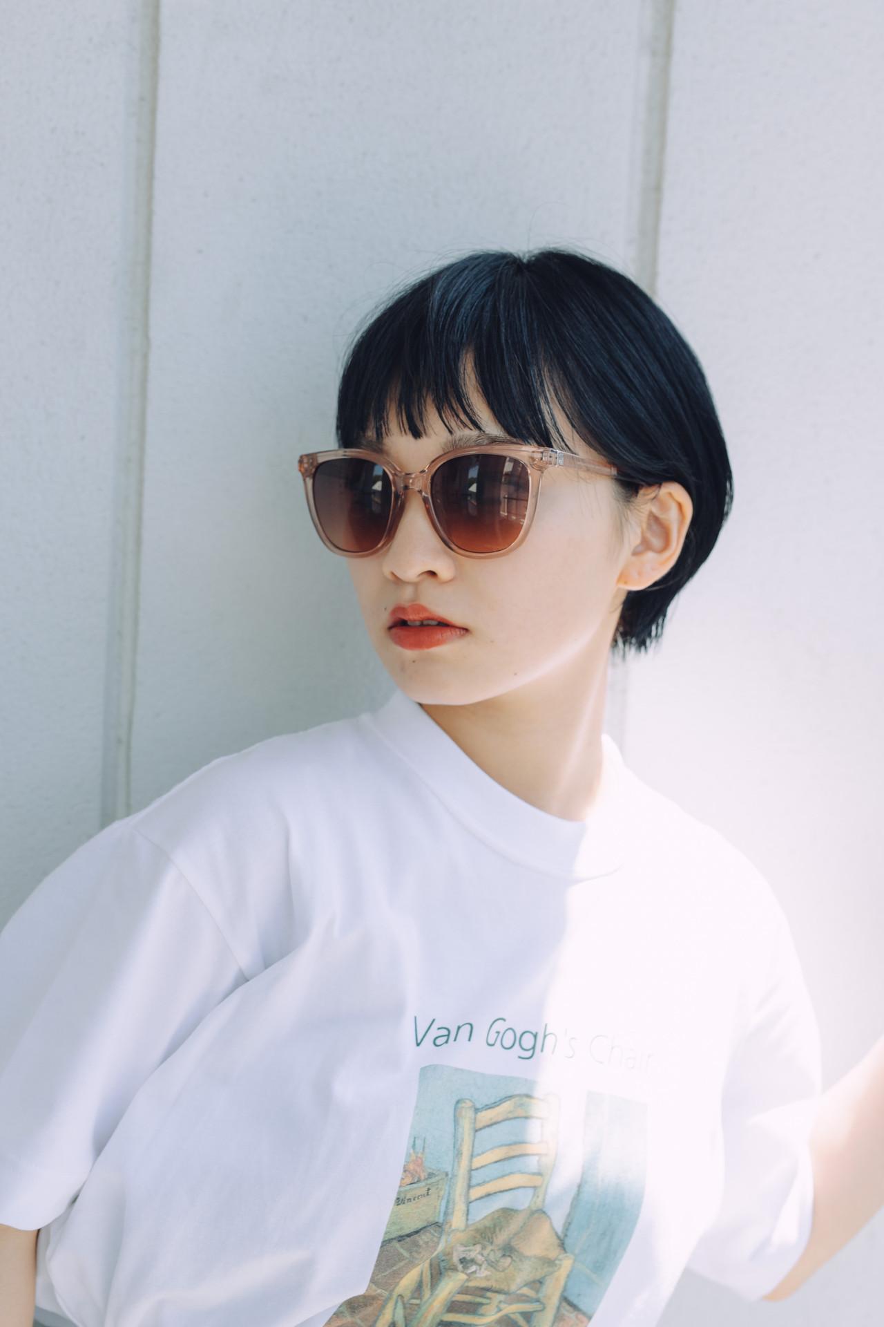 ハンサムショート ショートヘア ナチュラル 小顔ショート ヘアスタイルや髪型の写真・画像 | 児玉善央 / GARDEN harajuku