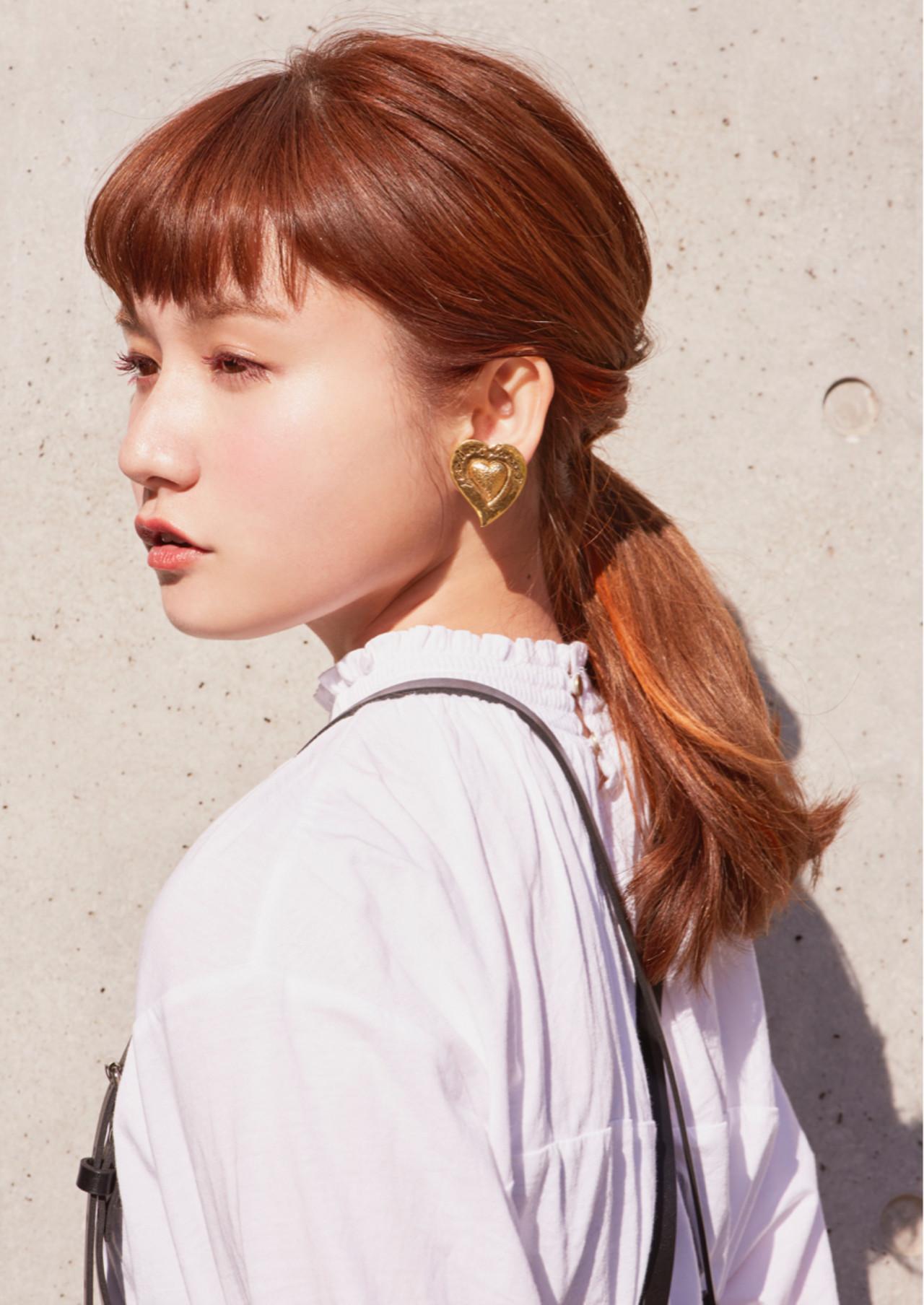 インナーカラー 愛され オレンジ モード ヘアスタイルや髪型の写真・画像 | 尾花 佑輔 / SHISEIDO PASSAGE BEAUTE' GINZA