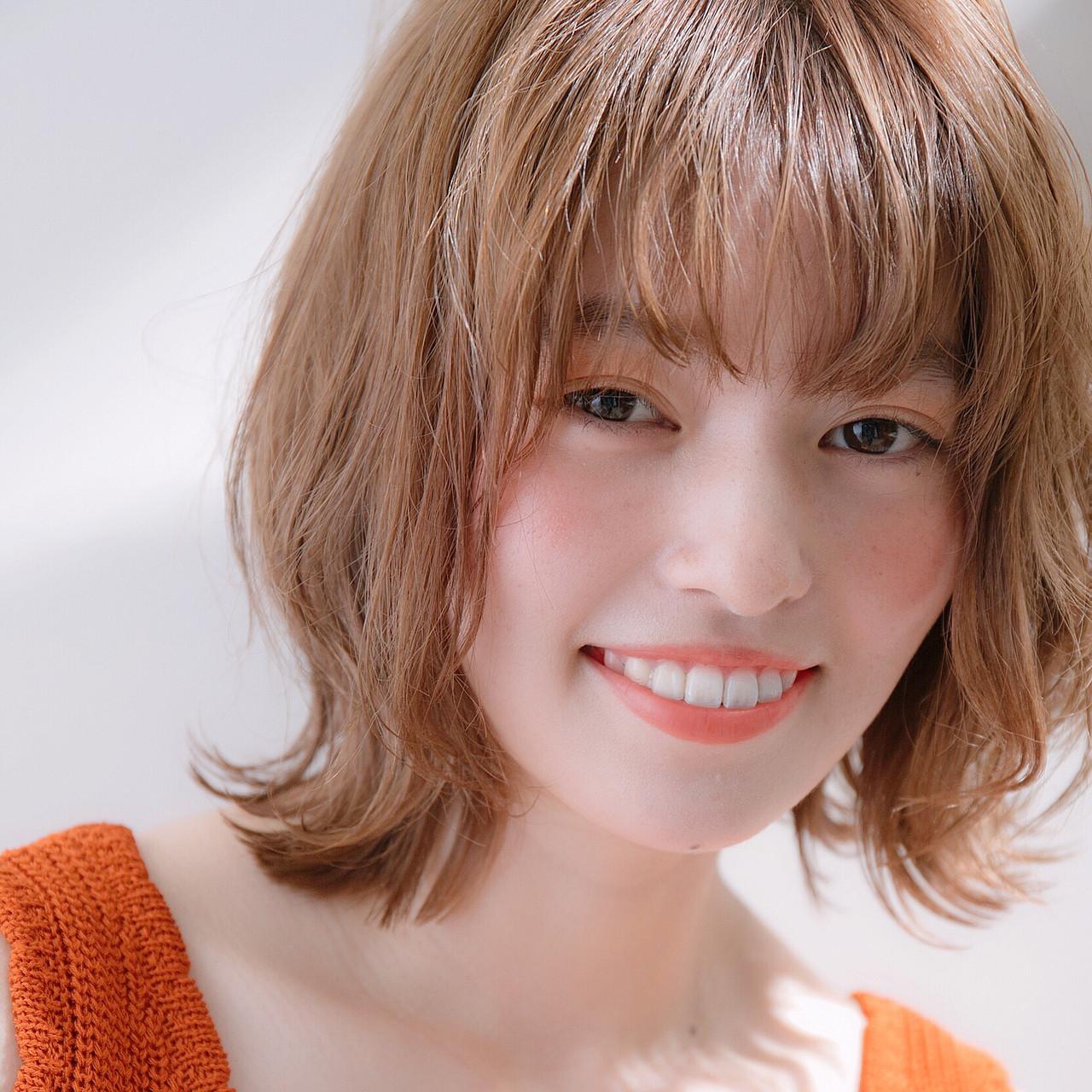 簡単ヘアアレンジ シースルーバング ナチュラル ヘアアレンジ ヘアスタイルや髪型の写真・画像