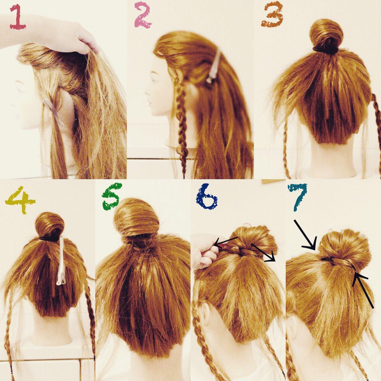 ヘアアレンジ 三つ編み セミロング ショート ヘアスタイルや髪型の写真・画像