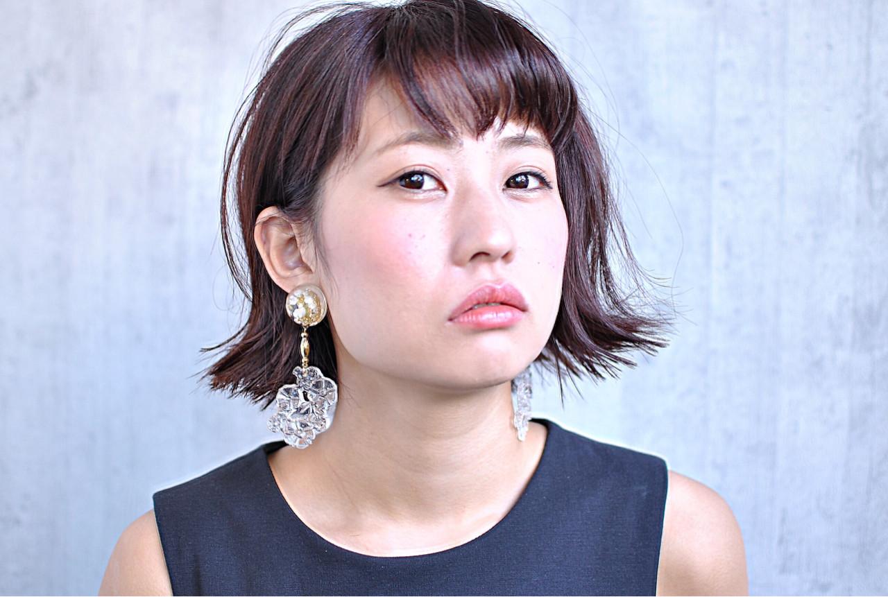 ベリーピンク ガーリー 外ハネ 色気 ヘアスタイルや髪型の写真・画像 | ワタナベ / Hair make  Rin