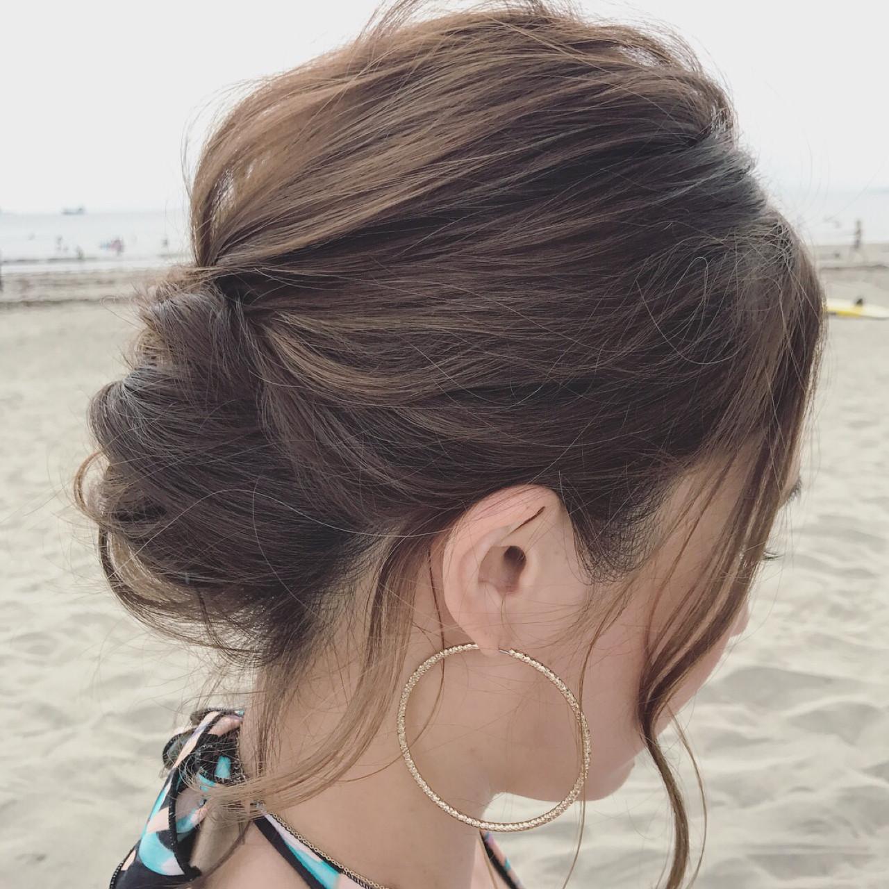 ヘアアレンジ エレガント 上品 秋 ヘアスタイルや髪型の写真・画像