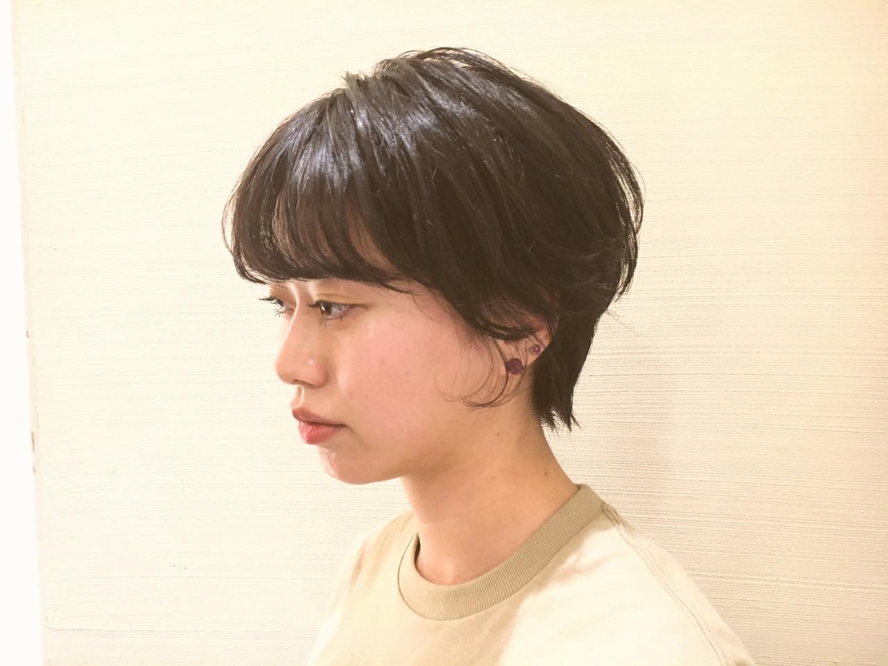 ヘアアレンジ デート ショート アウトドア ヘアスタイルや髪型の写真・画像   京都/片山 勇馬/ショート / snob