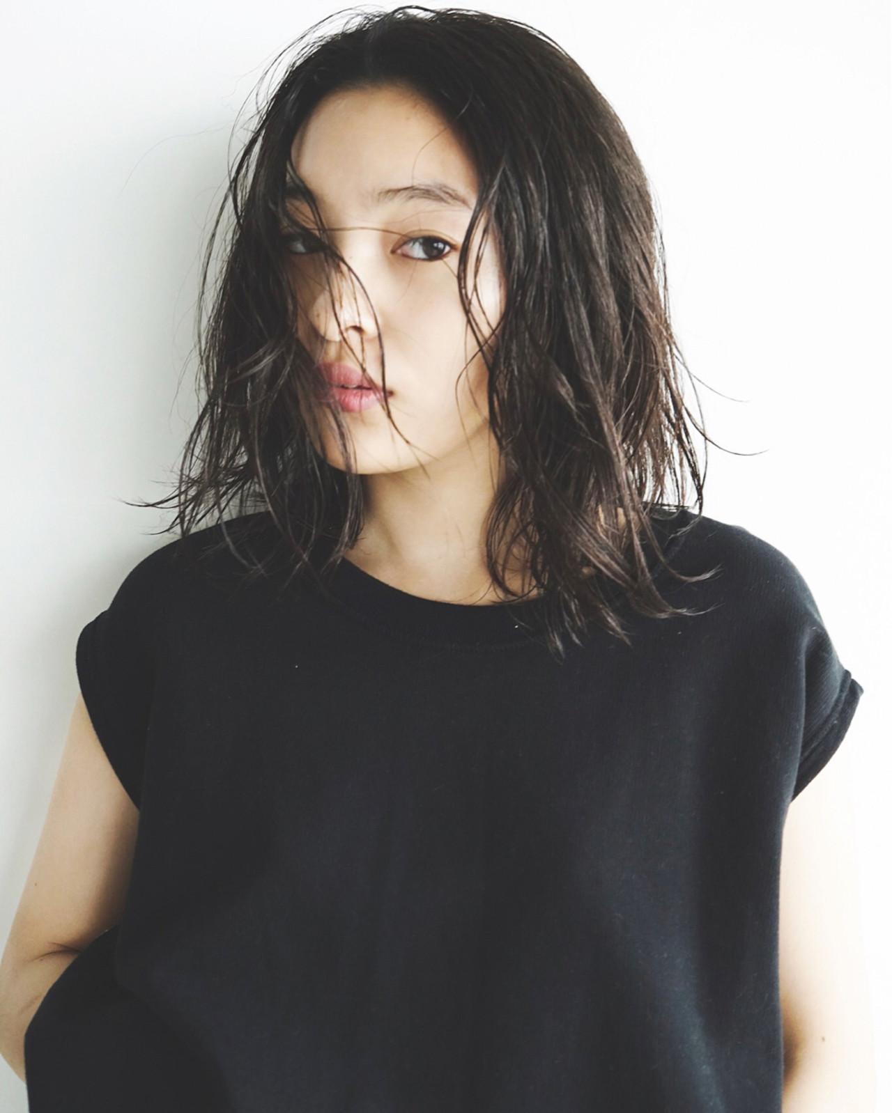 ウェットヘア 大人かわいい 外国人風 ゆるふわ ヘアスタイルや髪型の写真・画像 | 佐野 正人 / nanuk / nanuk