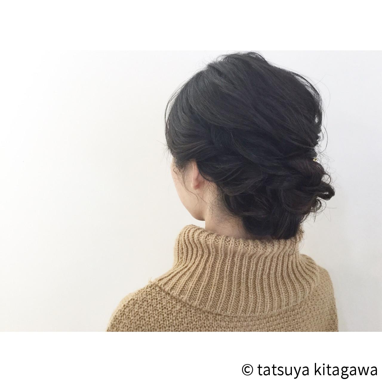 結婚式 花嫁 ゆるふわ 黒髪 ヘアスタイルや髪型の写真・画像