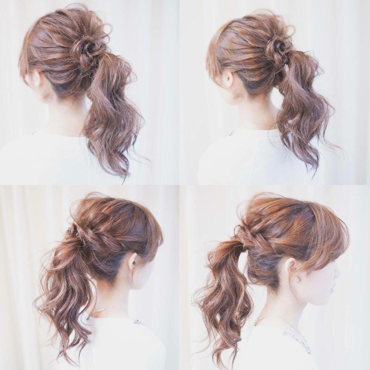 ナチュラル ヘアアレンジ 編み込み ショート ヘアスタイルや髪型の写真・画像